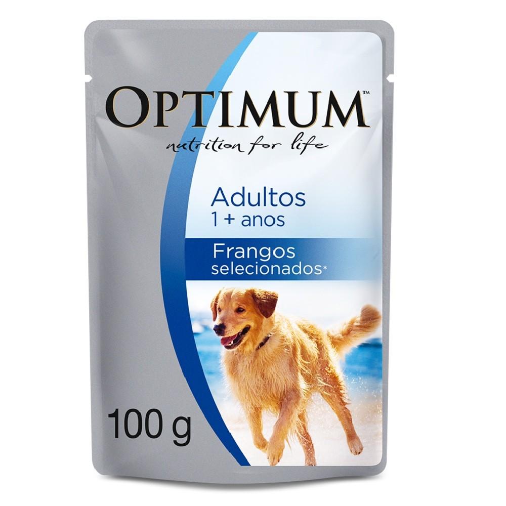 Alimento úmido Optimum Sachê Sabor Frango para Cães Adultos - Mars (100g)