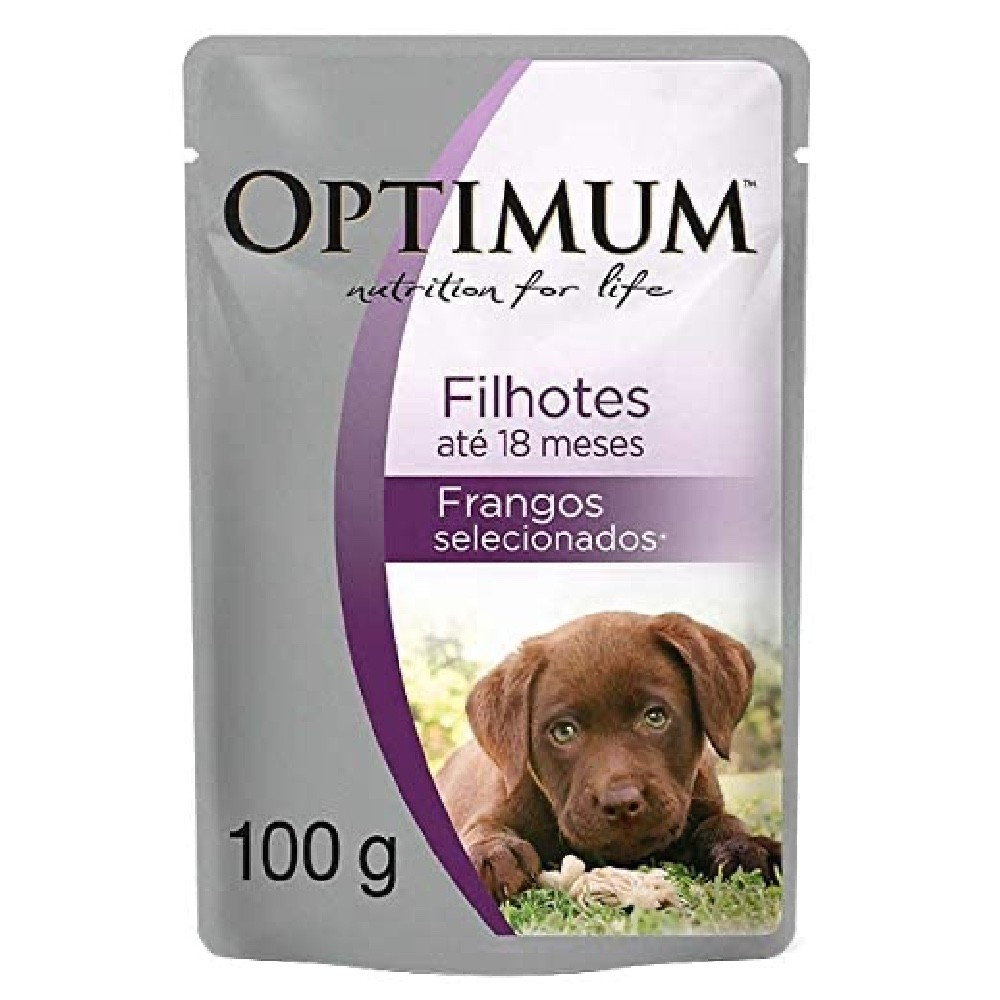 Alimento úmido Optimum Sachê Sabor Frango para Cães Filhotes - Mars (100g)
