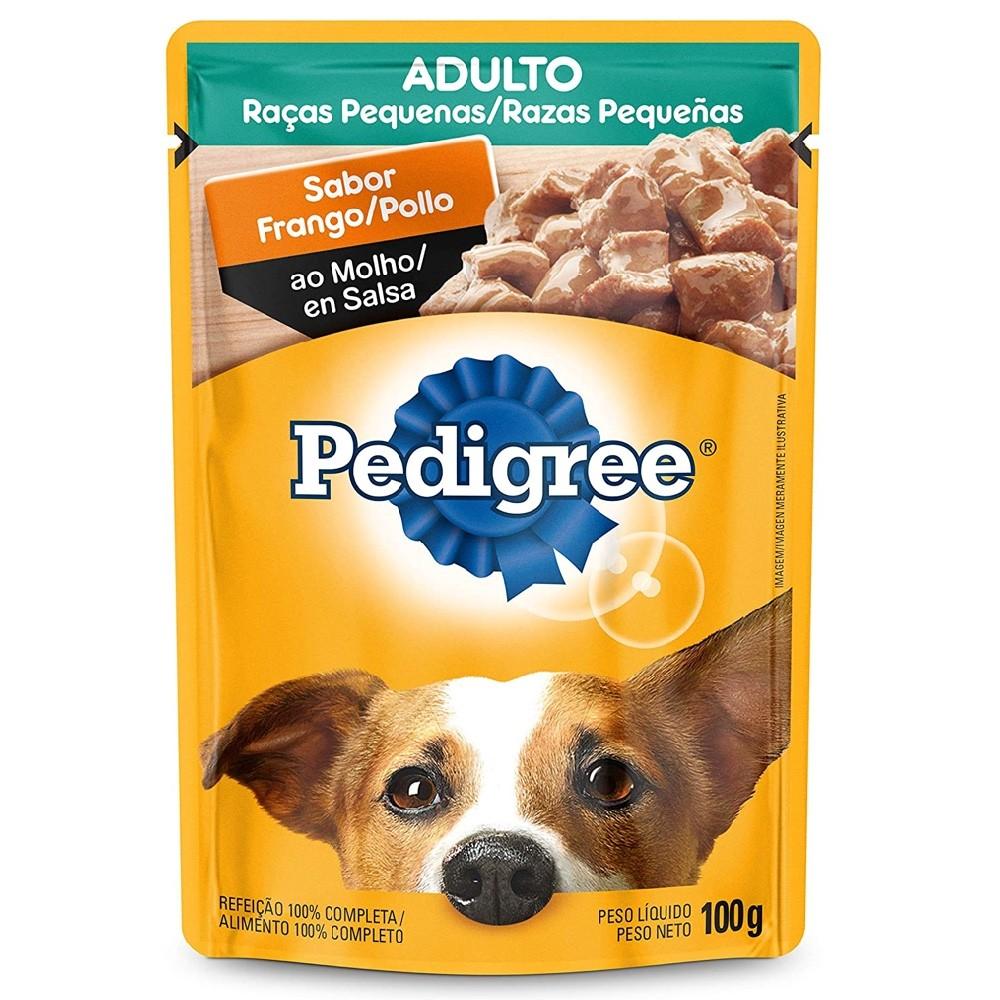 Alimento úmido Pedigree Raças Pequenas Sachê Sabor Frango ao Molho para Cães Adultos - Mars (100g)
