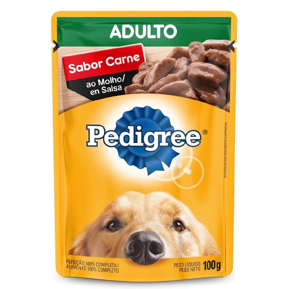 Alimento úmido Pedigree Sabor Carne ao Molho para Cães Adultos - Mars (100g)