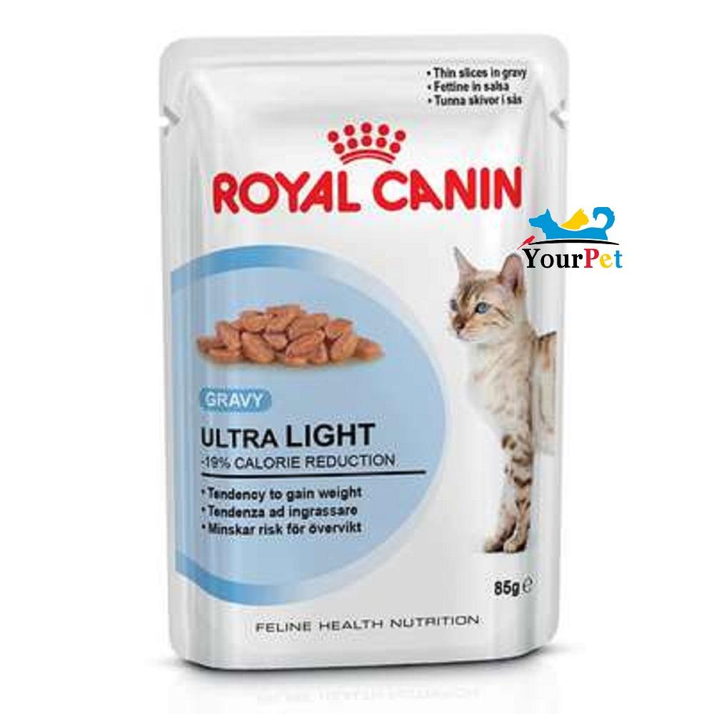 Alimento úmido Royal Canin Ultra Light para Gatos com tendência ao Sobrepeso (85g)