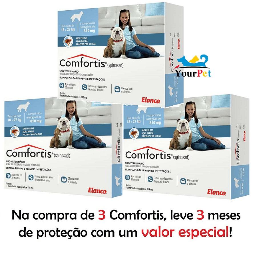 Antipulgas Comfortis 810 mg para Cães de 18 a 27 Kg - Elanco (COMBO)