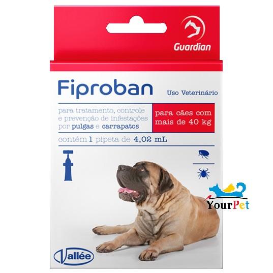 Antipulgas e Carrapatos Fiproban Cães acima de 40 kg - Vallee (1 pipeta de 4,08 ml)