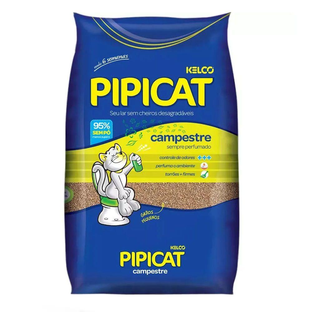 Areia Sanitária Pipicat Campestre para Gatos (4kg) - Kelco