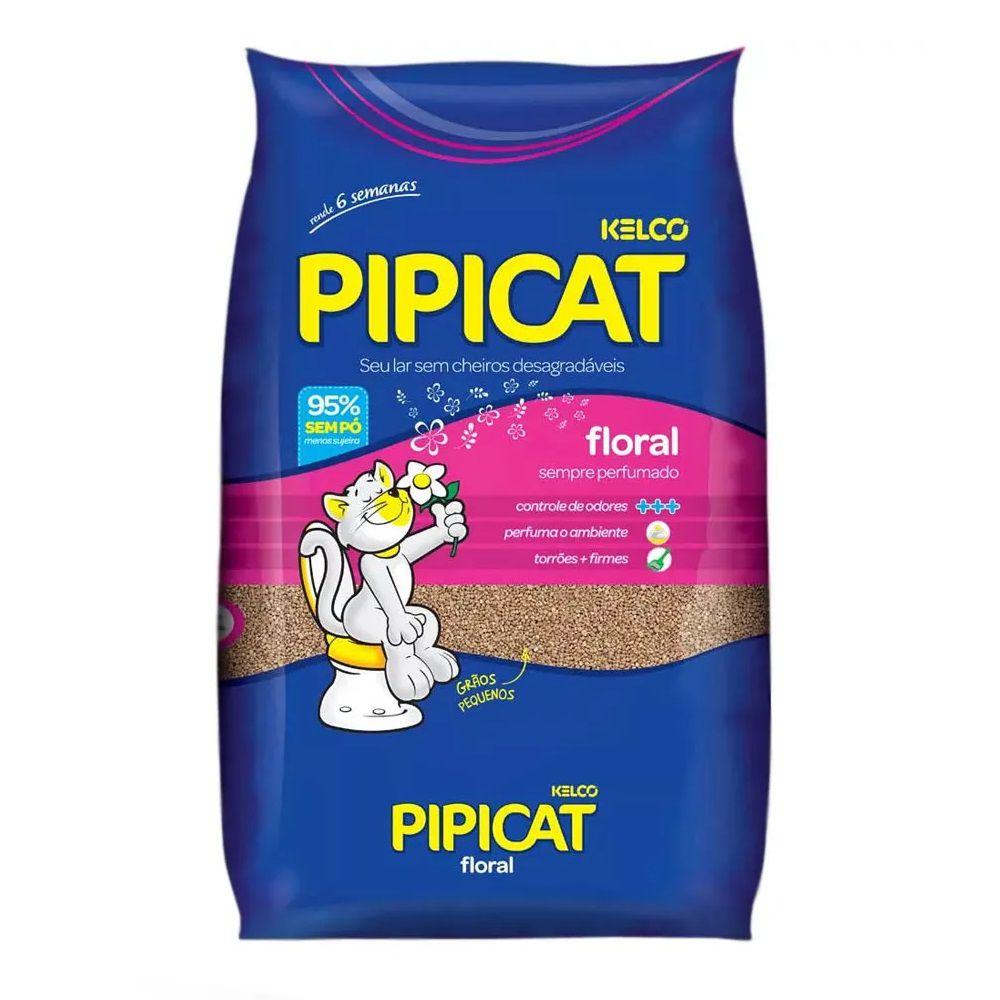 Areia Sanitária Pipicat Floral para Gatos (4 kg) - Kelco