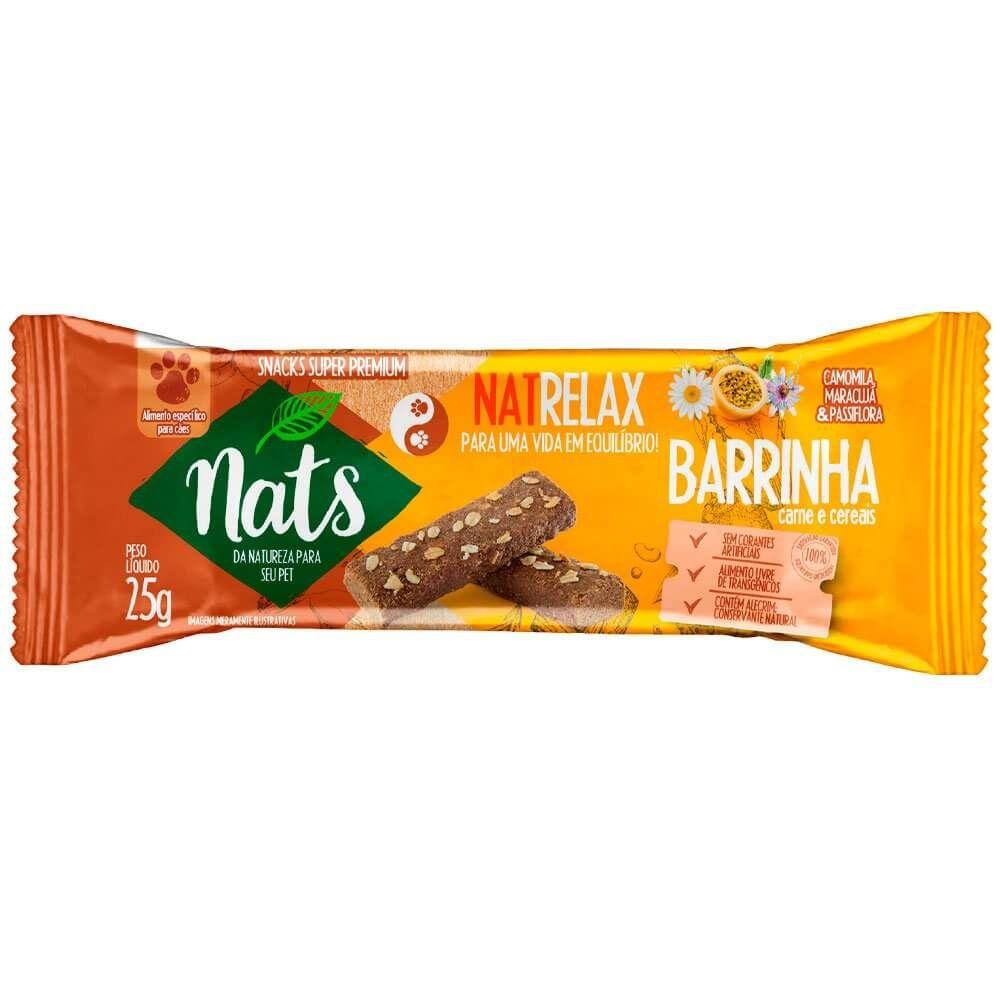 Barrinhas de Carne e Cereais NatRelax - Snack Super Premium Natural para Cães - Nats (25 g)