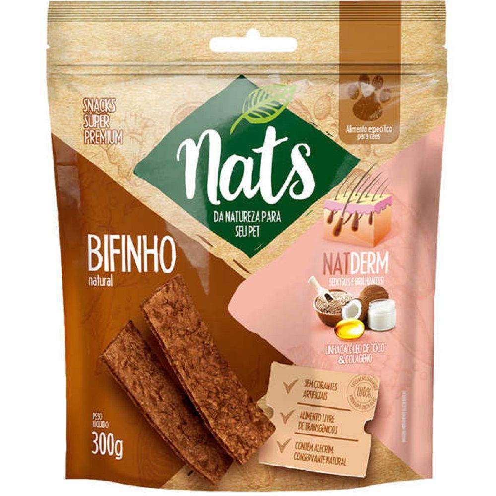 Bifinho Natural Super Premium NatDerm Pelos Sedosos e Brilhantes - Nats (300g)