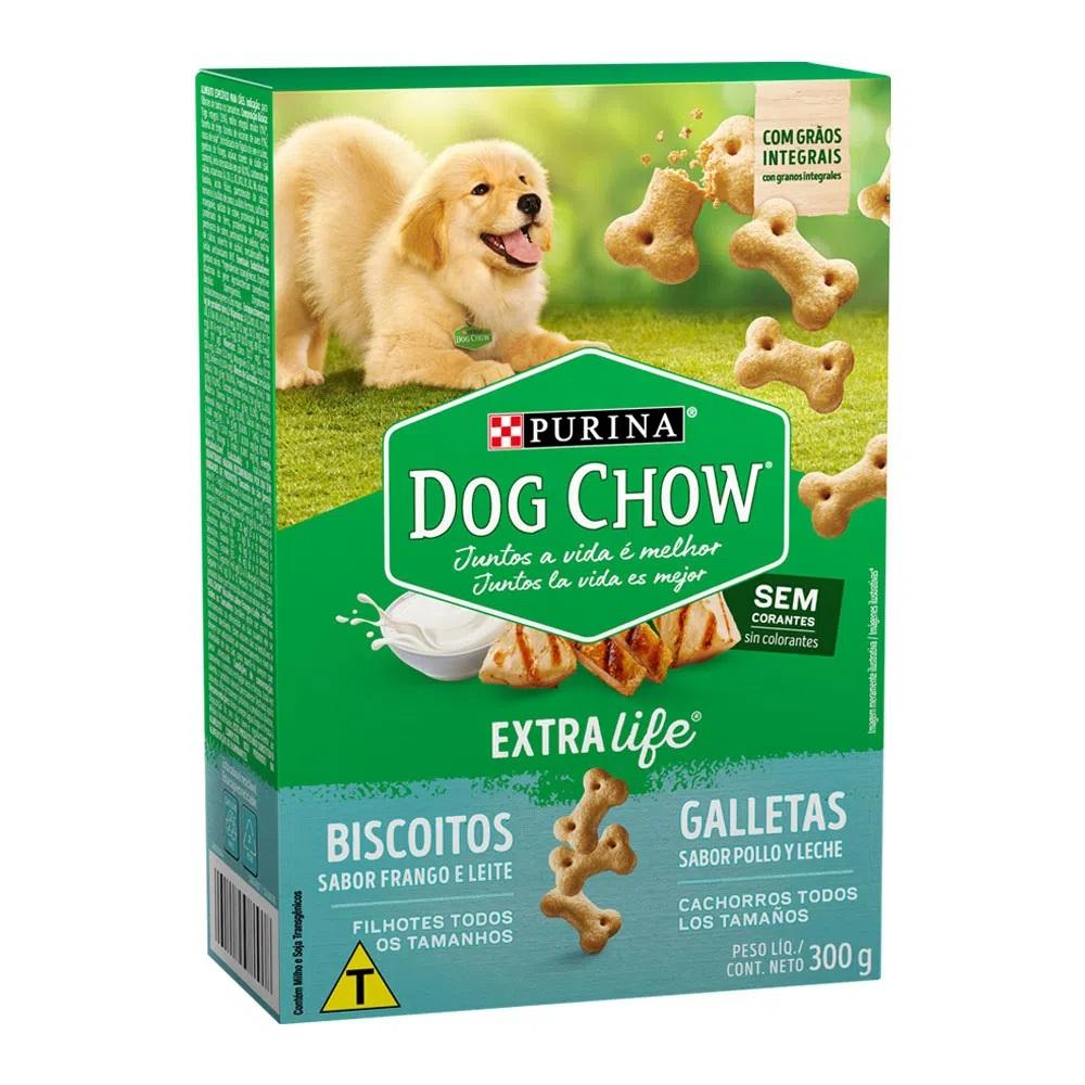 Biscoito Dog Chow para Cães Filhotes de Todas as Raças Extra Life - Nestlé Purina (300g)