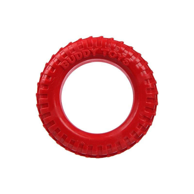 Brinquedo de Nylon para Cães Destruidores - Pneu de Nylon (Vermelho) - Buddy Toys
