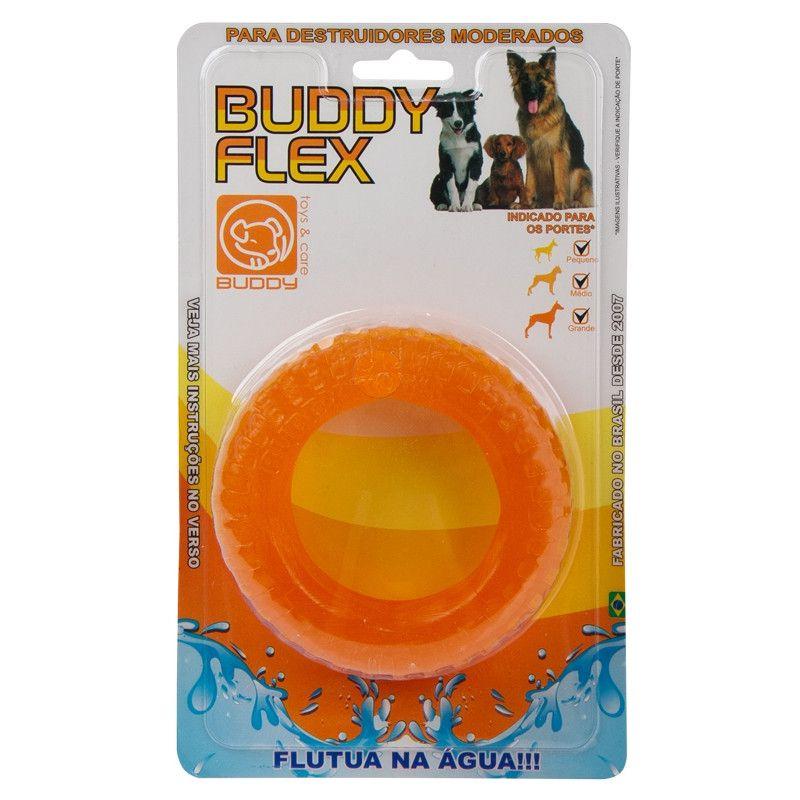 Brinquedo Flex Flutua na água para Cães Destruidores moderados - Pneu Flex - Buddy Toys (Laranja)