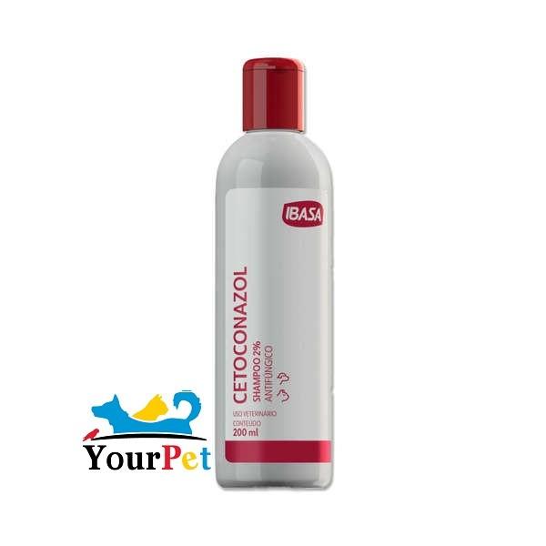 Cetoconazol Shampoo 2% Antifúngico para Cães e Gatos - Ibasa (200 ml)