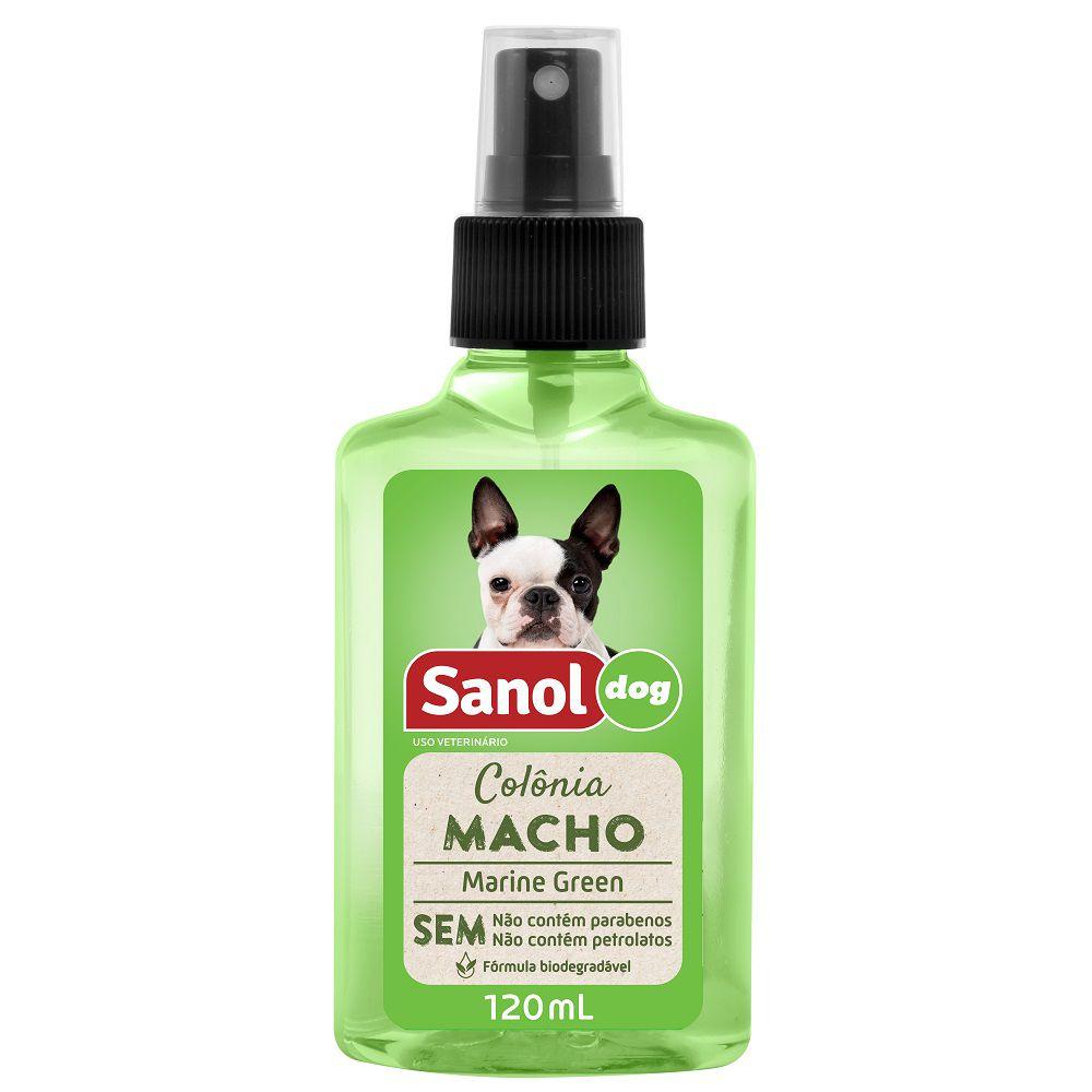 Colônia Sanol Dog Macho Marine Green Essência Amadeirada para Cães e Gatos (120 ml) - Total Química