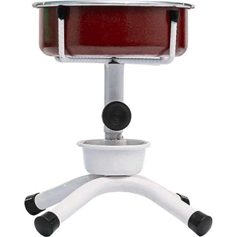 Comedouro Único Antiformiga Ajustável Mini 600ML (Vermelho) - NF Pet