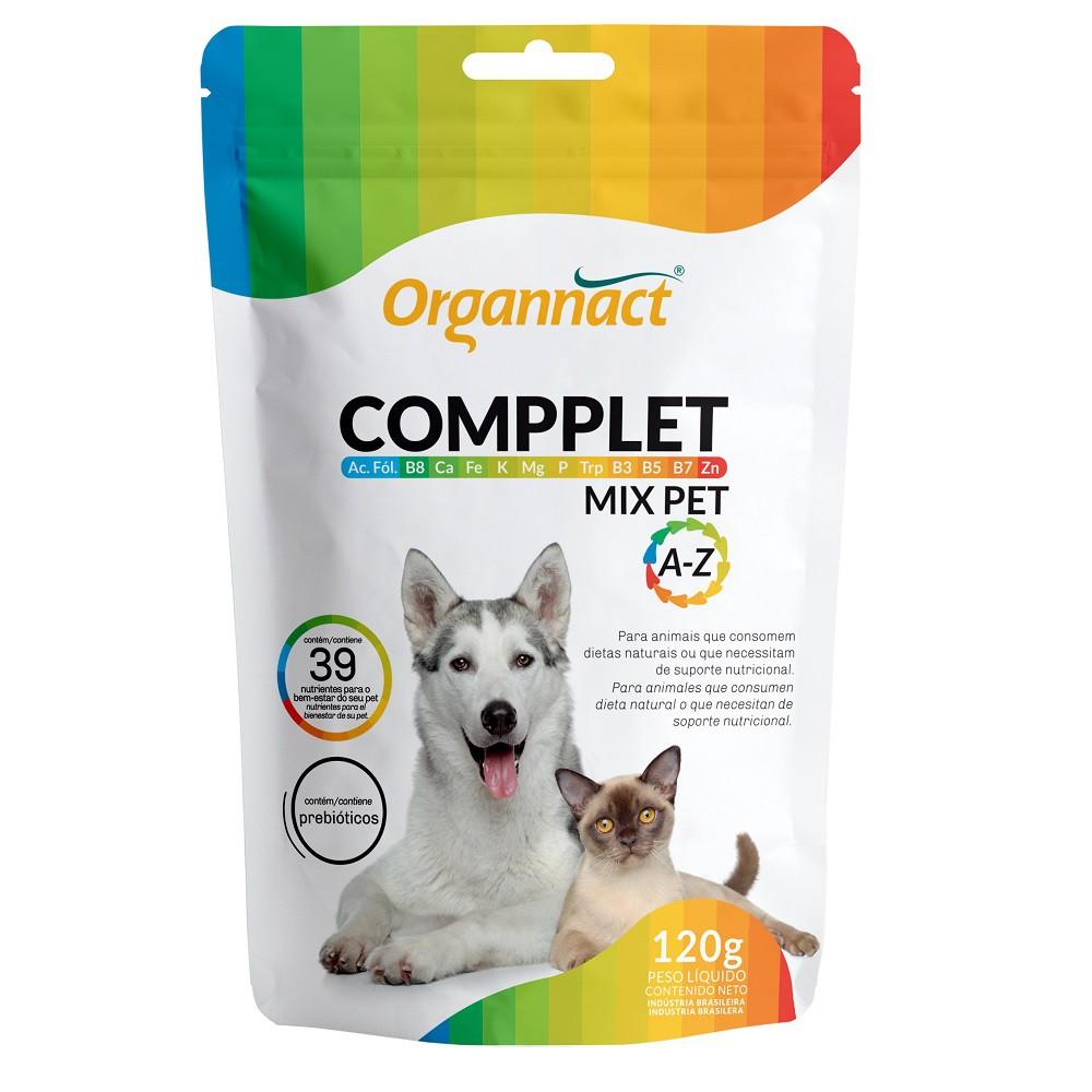 Compplet Mix Pet A-Z Suplemento Alimentar para Cães e Gatos (120 g) - Organnact