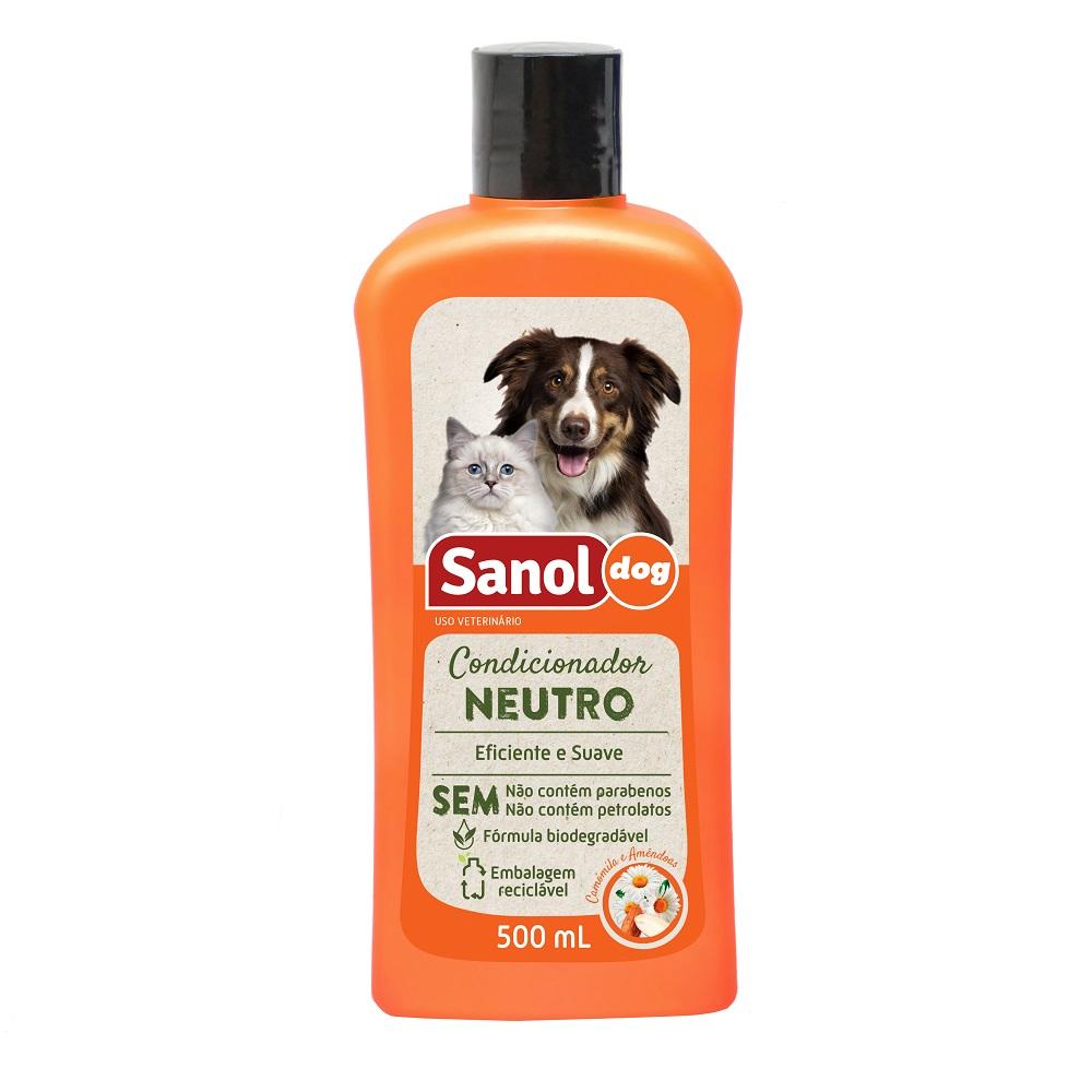 Condicionador Neutro Sanol Dog para Cães e Gatos (500 ml) - Total Química