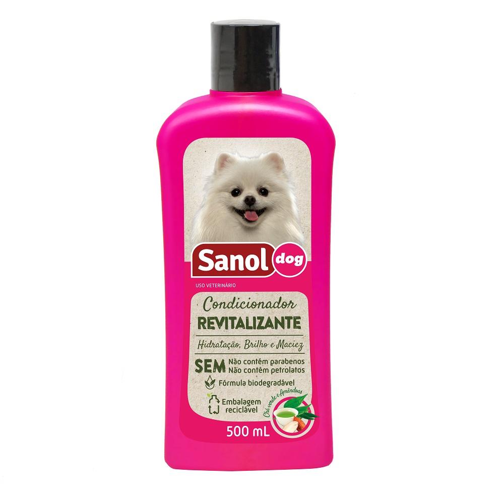 Condicionador Revitalizante Sanol Dog para Cães e Gatos (500 ml) - Total Química