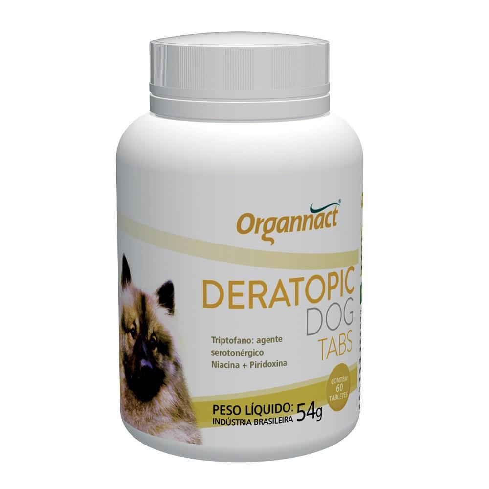 Deratopic Dog Tabs Suplemento para Cães (60 tabletes) - Organnact