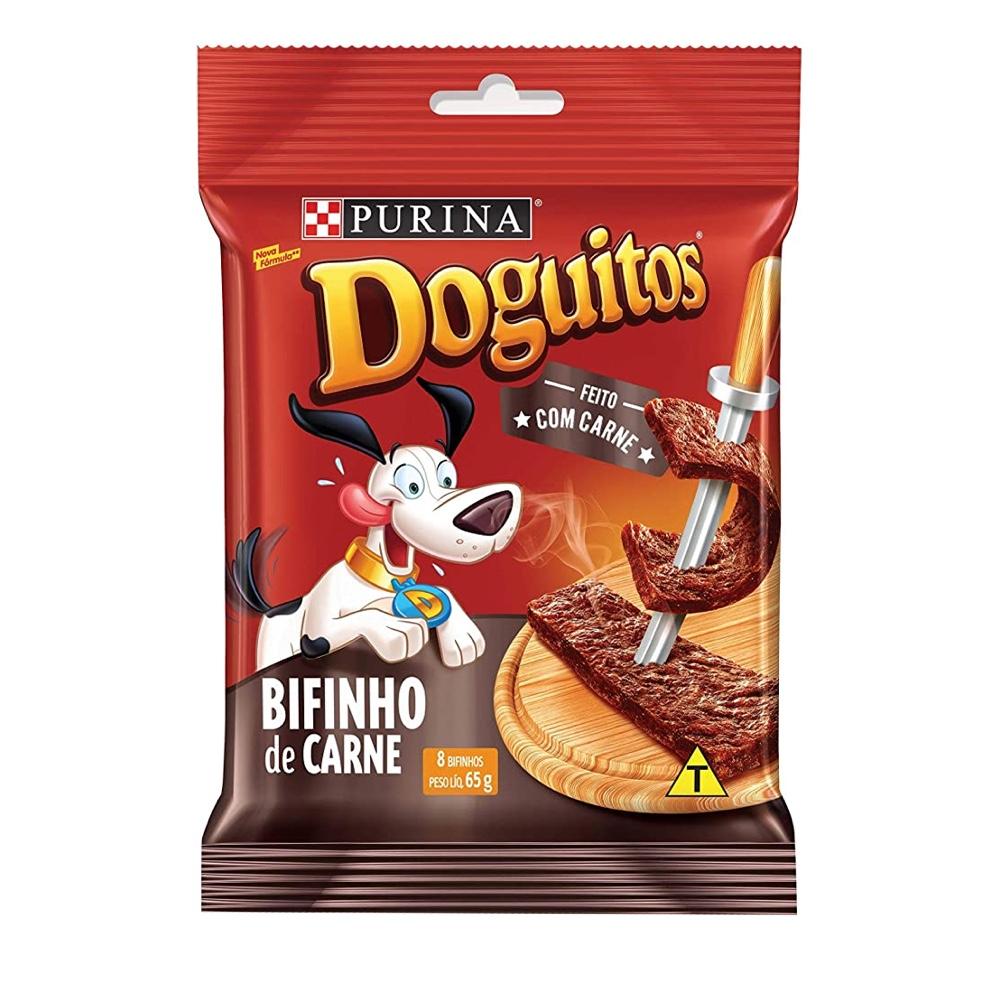 Doguitos Bifinho de Carne - Petisco para Cães de todas as raças e idades - Nestlé Purina (65g)