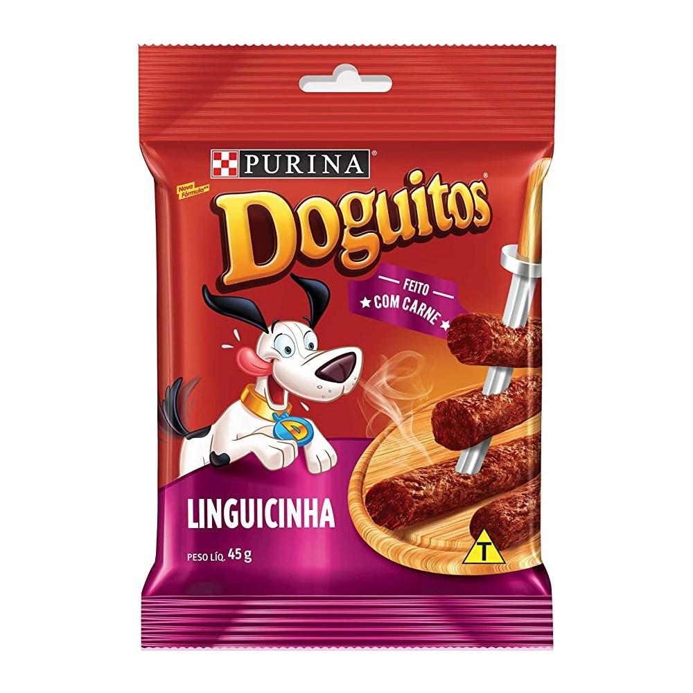 Doguitos Linguicinha - Petisco para Cães de todas as raças e idades - Nestlé Purina (45g)
