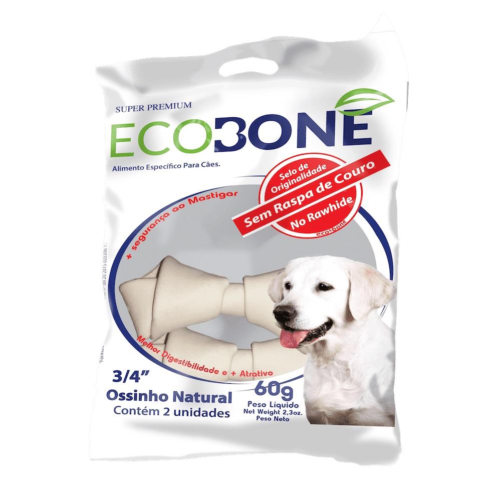 Ecobone - Osso Nó Natural Vegano 3/4 para Cães (2 unidades)