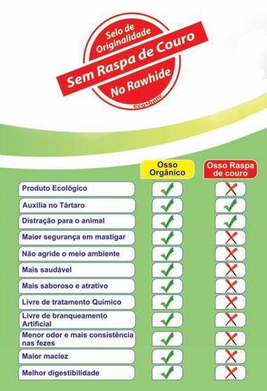 Ecobone - Osso Nó Natural Vegano 5/6 para Cães (1 unidade)