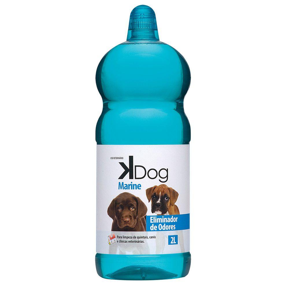 Eliminador de Odores Marine K Dog - Limpeza de quintais, canis e clínicas veterinárias (2l) - Total Química