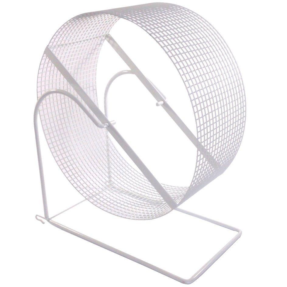 Exercitador de arame Gira-gira Rodinha para Chinchila e Twister - GR008 (30 cm de diâmetro) - Bragança (Branca)