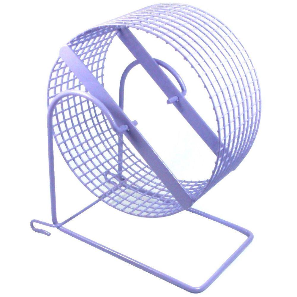 Exercitador de arame Gira-gira Rodinha para Hamster Anão Russo e Topolino - GR006 (15cm de diâmetro) - Bragança (Lilás)