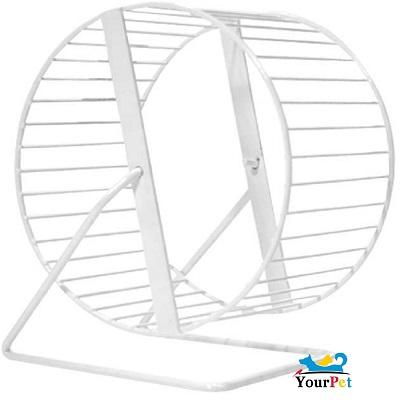 Exercitador de arame GR003 (rodinha) para Hamster Sírio e Gerbil (20 cm de diâmetro) - Bragança (Branca)