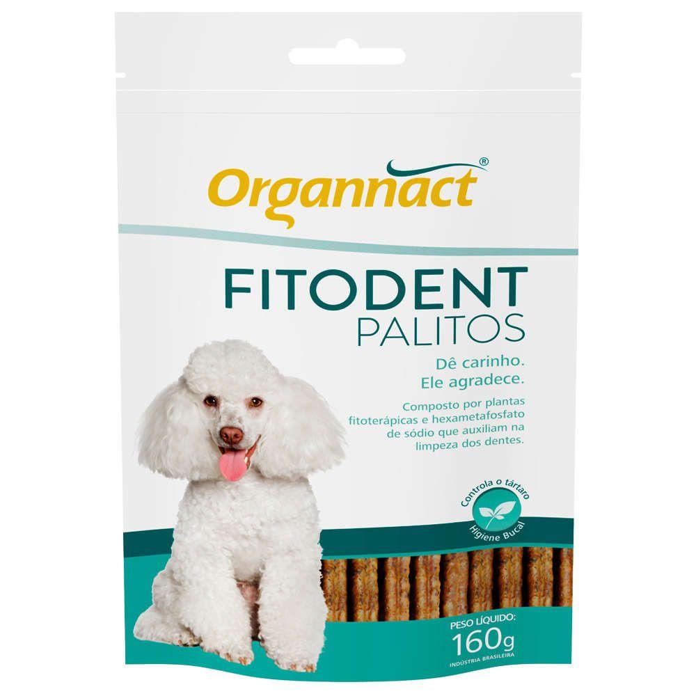 Fitodent Palitos - Auxílio na limpeza dos dentes, controla o tártaro em Cães - Organnact (160g)
