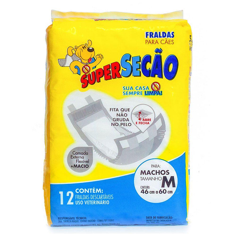 Fralda descartável Super Secão para Cão Macho - Petix (12 unidades) M