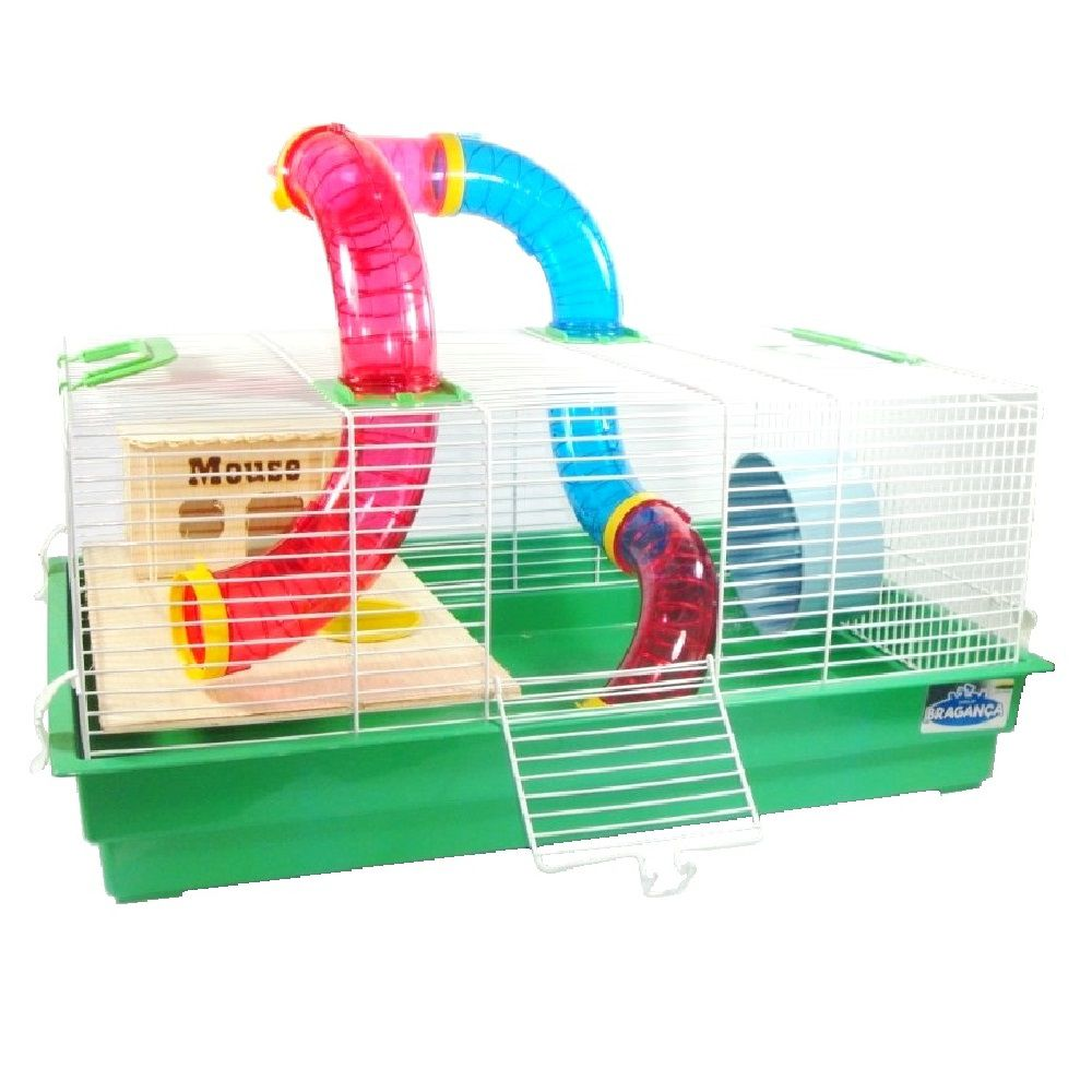 Gaiola Bragança Mickey Natureza Tubos Divertidos para Hamster e Gerbil - GR154 (Verde)
