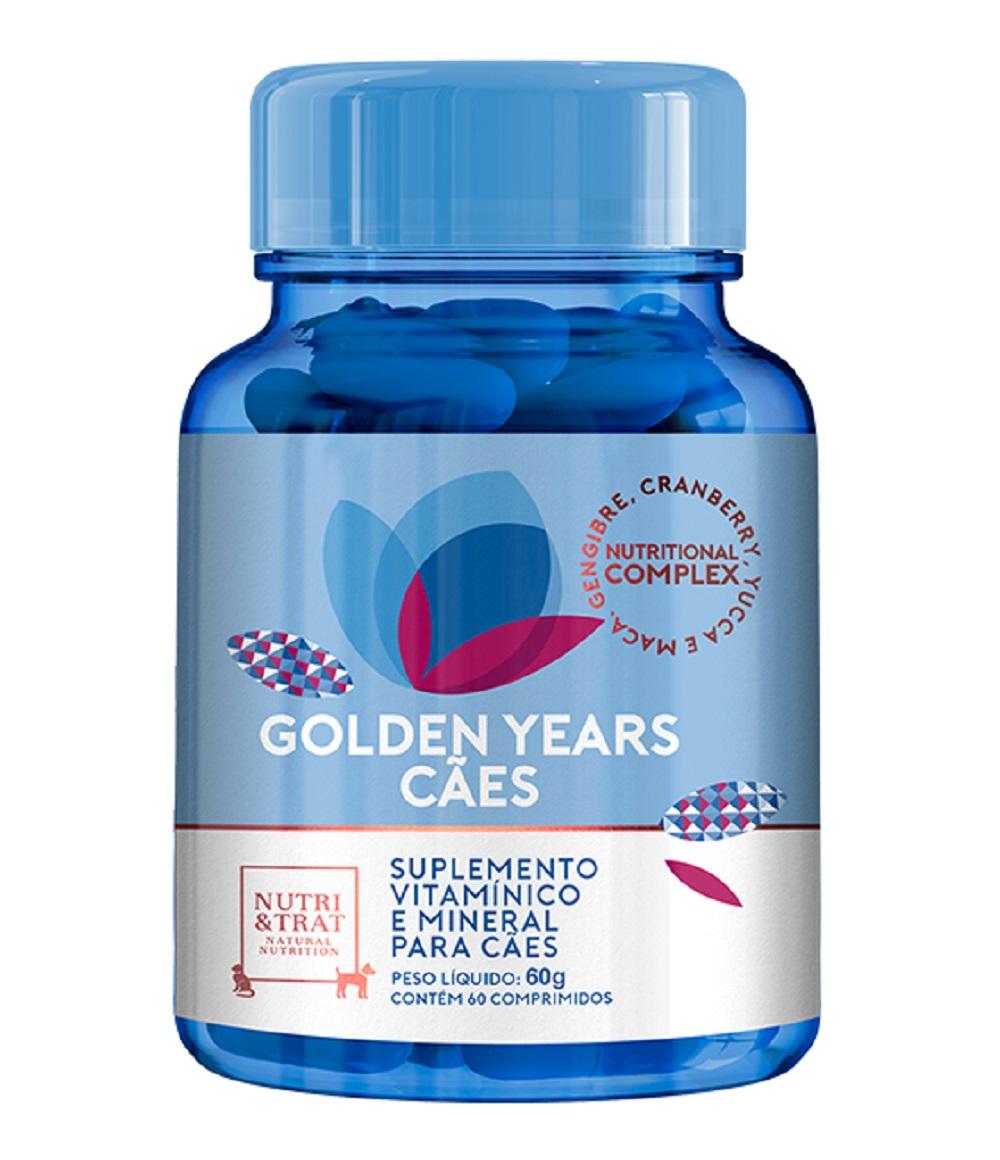 Golden Years 1000 mg - 60g - Suplemento vitamínico e mineral para Cães Idosos - Nutri & Trat Centagro (60 comprimidos)