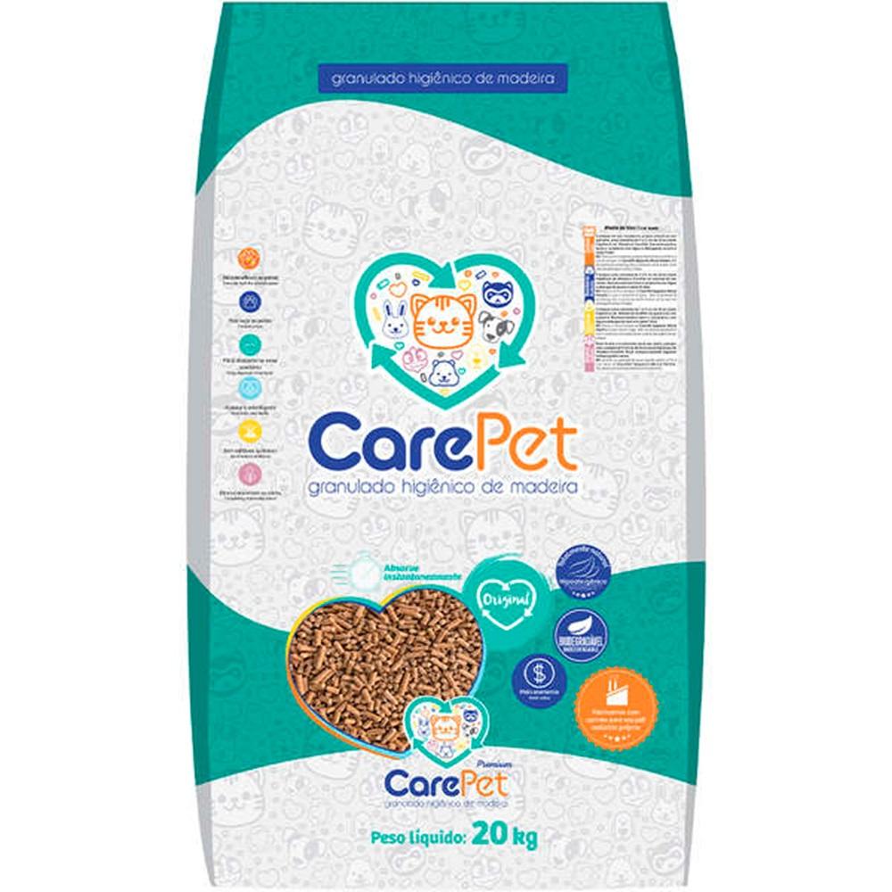 Granulado Higiênico de Madeira para Gatos (20kg) - Care Pet