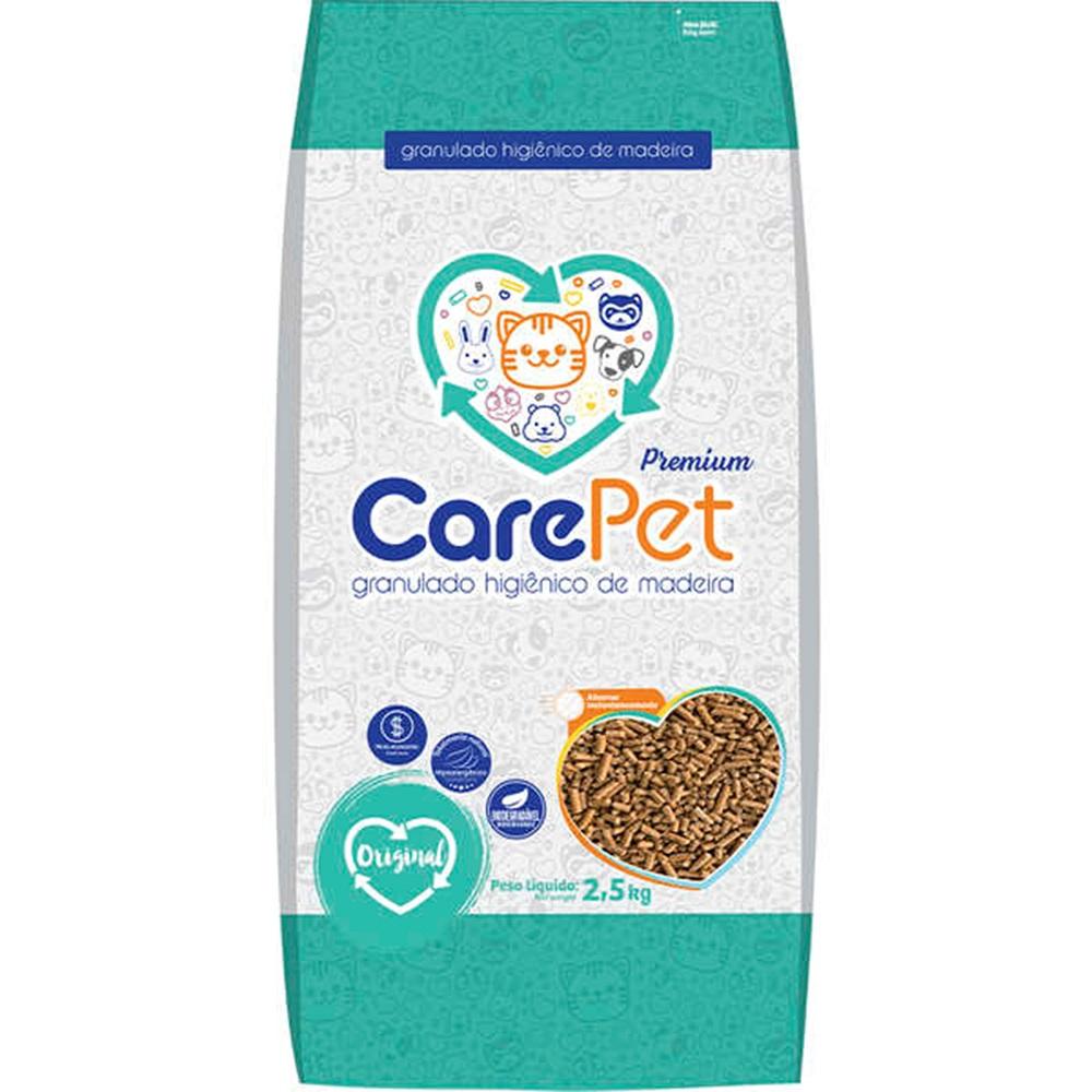 Granulado Higiênico de Madeira para Gatos (2,5kg) - Care Pet