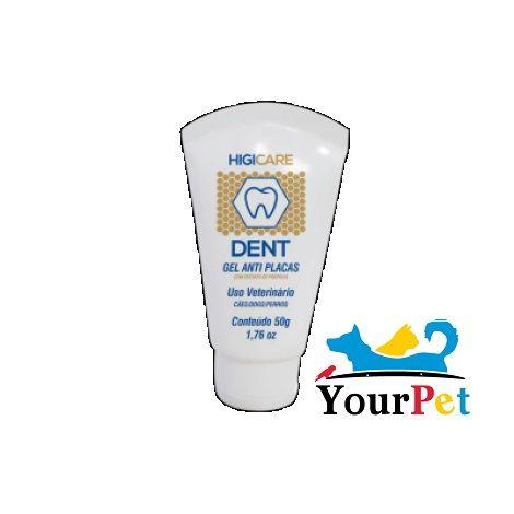 Higicare Dent - Gel Dental para Cães com extrato de própolis que ajuda na redução da placa bacteriana - Centagro (50g)