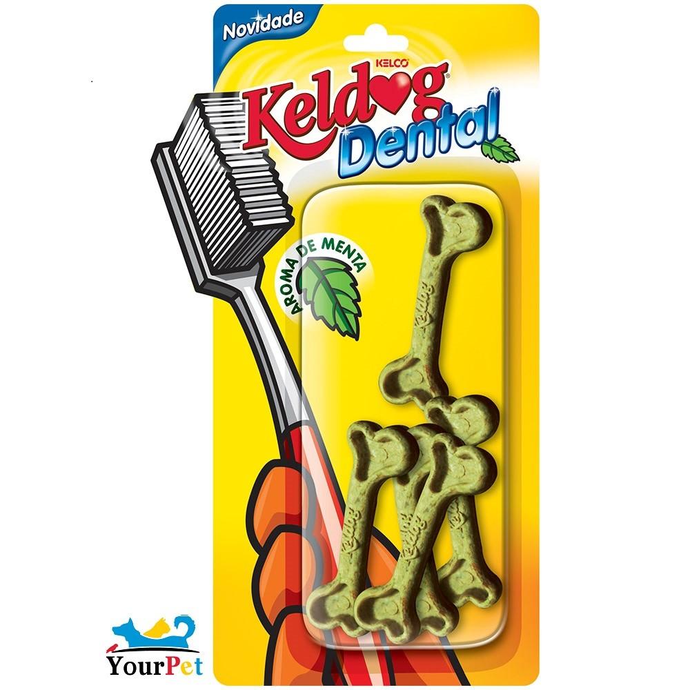 Keldog Dental Mentinha - Petisco que auxilia na Higiene bucal do seu cão - Keldog (5 unidades)