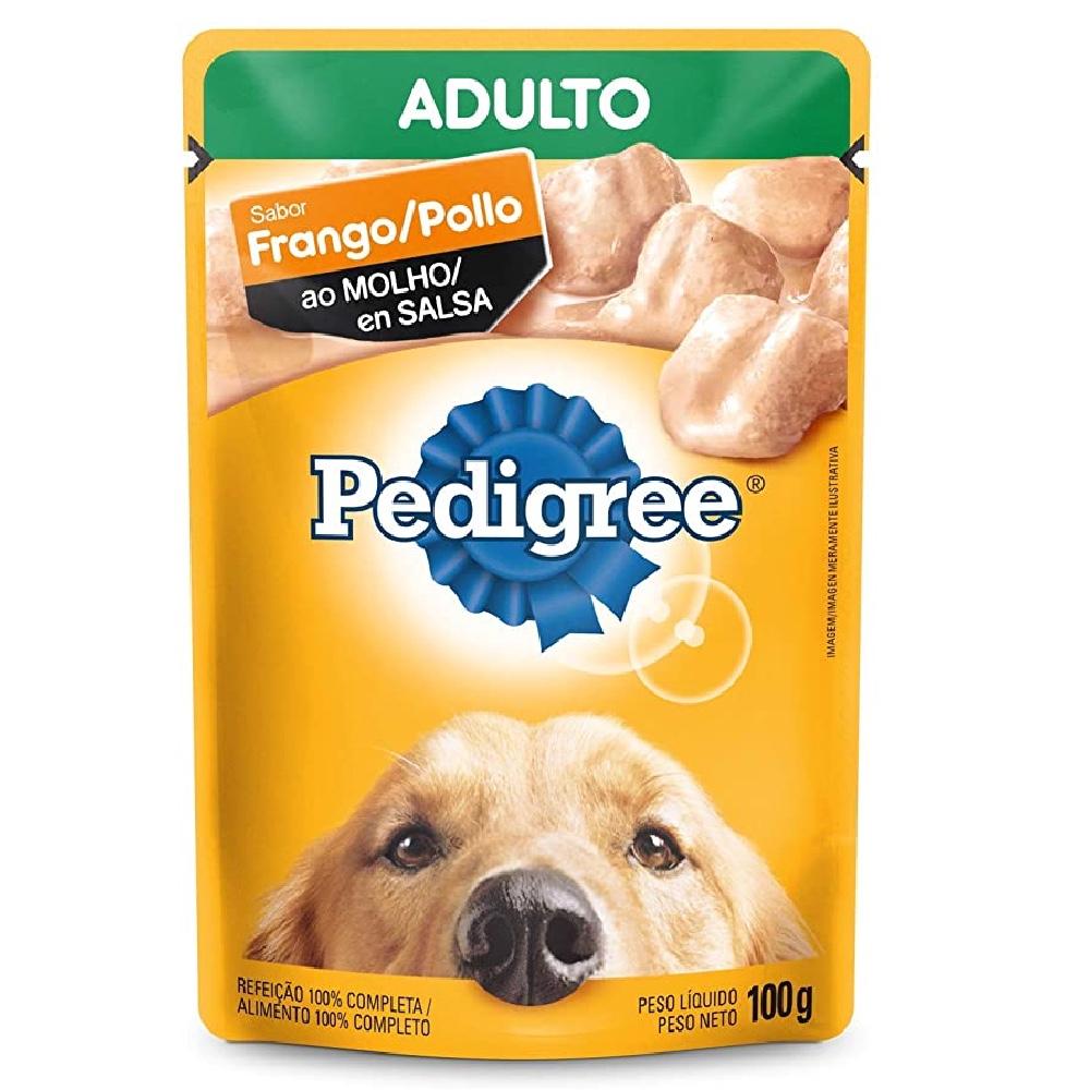 Kit com 18 - Alimento úmido Pedigree Sabor Frango ao Molho para Cães Adultos - Mars (100g)