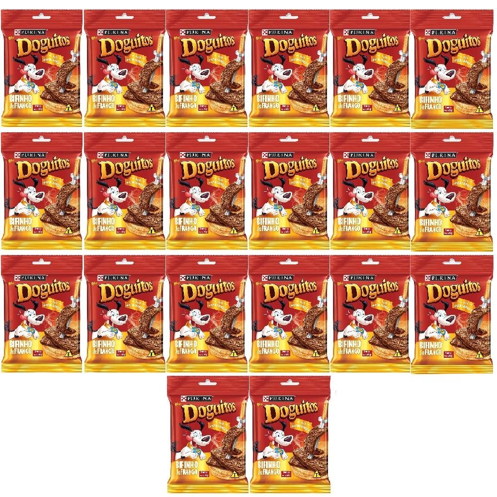Kit com 20 - Doguitos Bifinho de Frango - Petisco para Cães de todas as raças e idades - Nestlé Purina (65g)