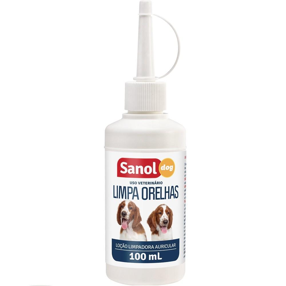 Limpa Orelha Sanol Dog Limpeza de ouvidos de Cães e Gatos (100ml) - Total Química