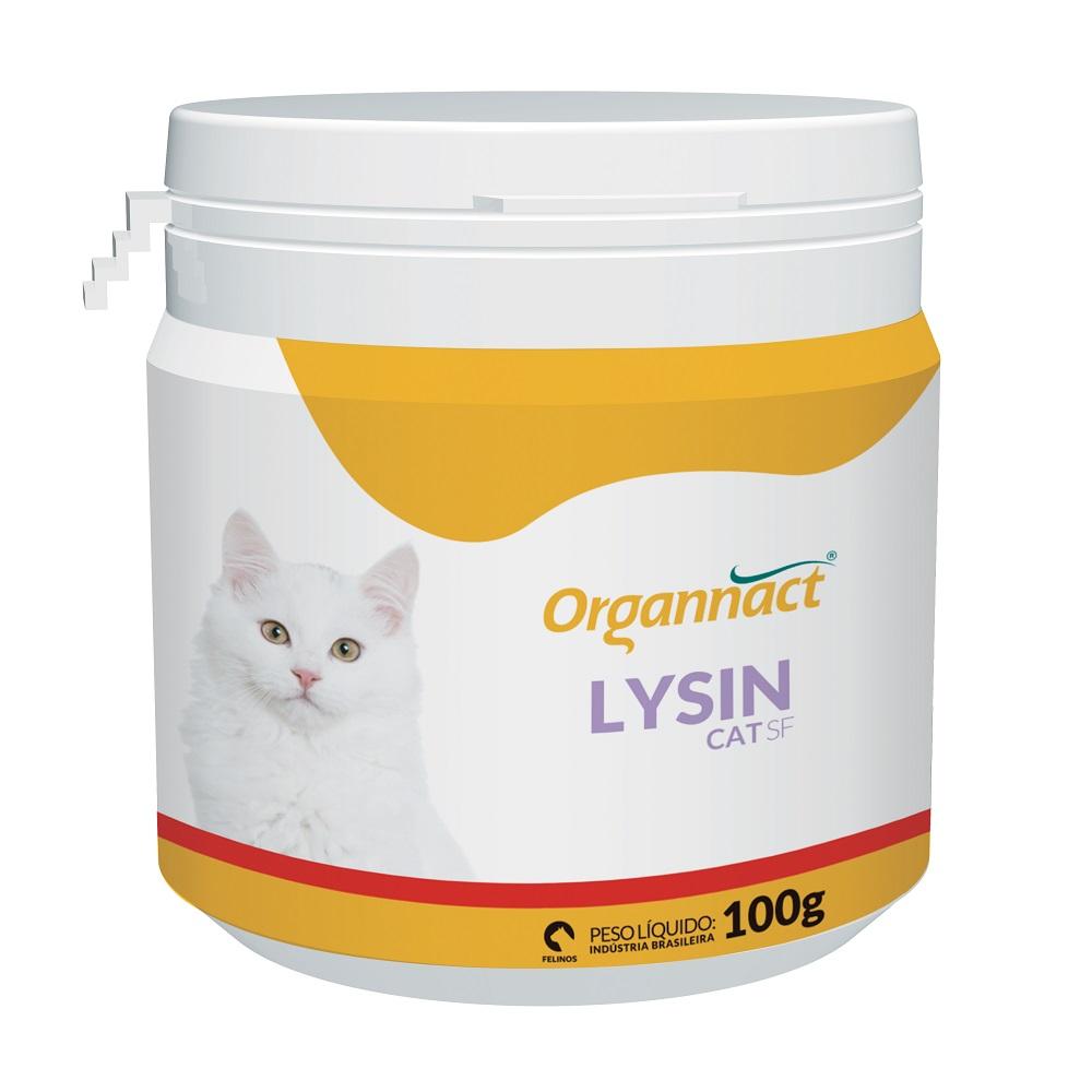 Lysin Cat SF - Suplemento Vitamínico Aminoácido para Gatos - Organnact (100g)
