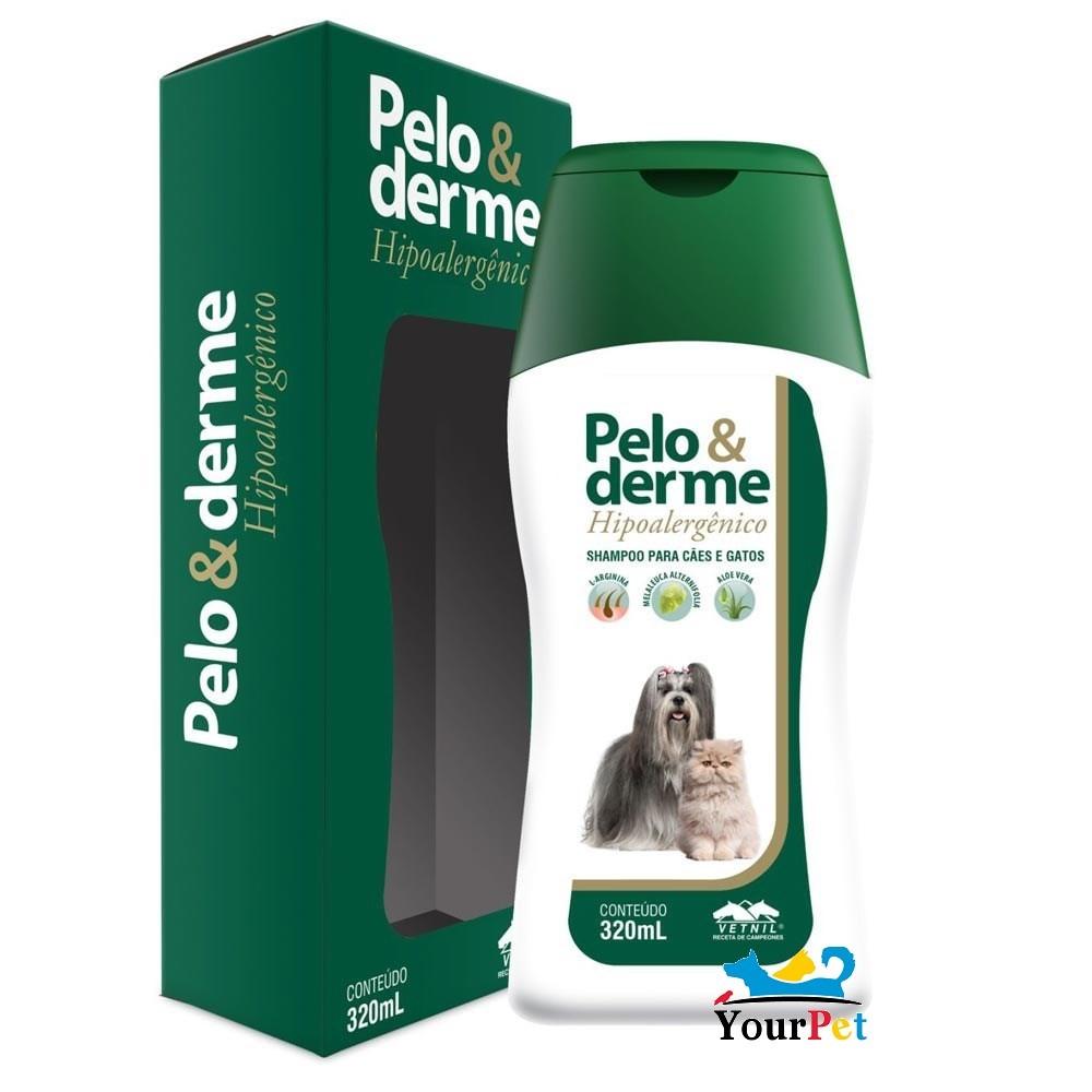 Pelo & Derme Hipoalergênico - Shampoo para Cães e Gatos - Vetnil (320 ml)