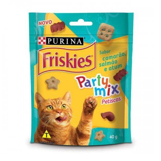 Petiscos Friskies Party Mix Sabor Camarão, Salmão e Atum - Nestlé Purina (40 g)