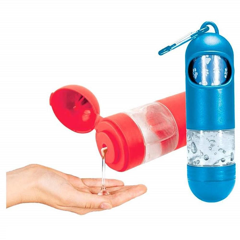 Pop Bag Gel - Cata Caca 2 em 1 Sacolinha Biodegadrável Coletora de fezes + Cleaner Gel - Chalesco (Azul)