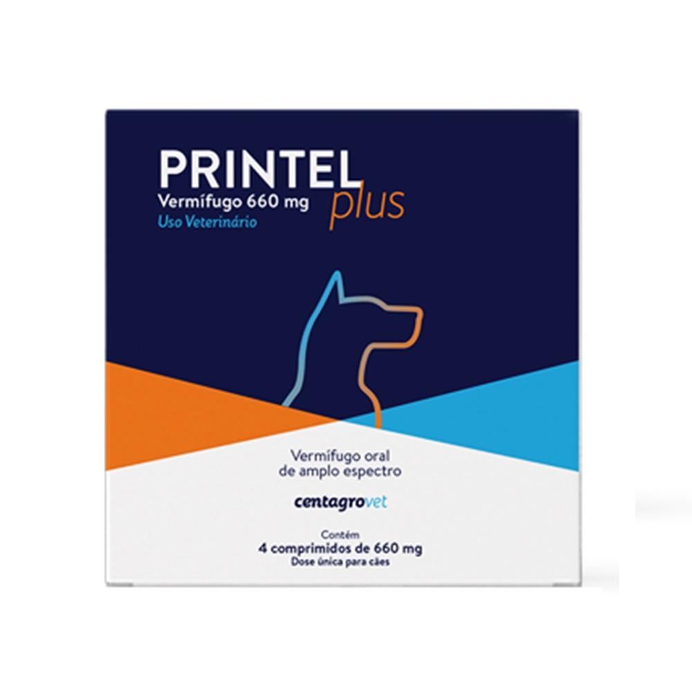 Printel Plus 660mg Vermífugo Cães - Centagro (4comprimidos)
