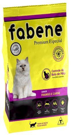 Ração Fabene Feline Frango e Carne para Gatos Adultos - Premiatta (3 kg)