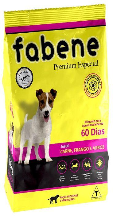 Ração Fabene Mini Bits para Cães Adultos de Porte miniatura e pequeno (12 kg)