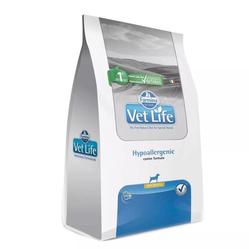 Ração Farmina Vet Life Hypoallergenic Mini Breeds Cães Adultos Pequenos com alergias ou intolerância a nutrien (10,1 kg)