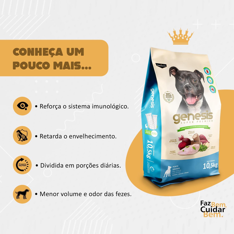 Ração Gênesis Super Premium para Cães Adultos e Filhotes de Porte Grande - Gran Premiatta (9 kg = 30x300g)