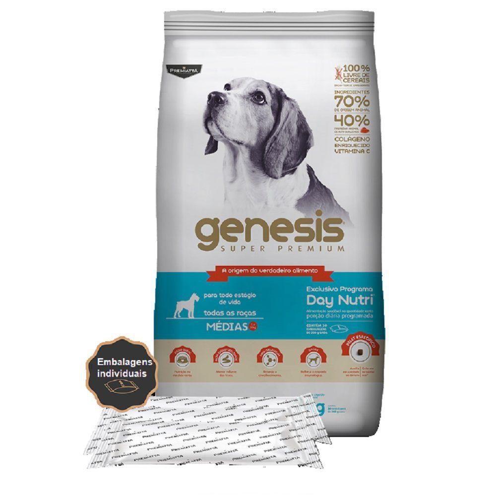 Ração Gênesis Super Premium para Cães Adultos e Filhotes de Porte Médio - Gran Premiatta (6 kg = 30x200g)